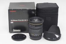 Sigma AF 18-50mm f2.8 DC EX Macro Lens 18-50/2.8 Sony Minolta               #464