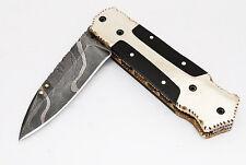 Damast Messer Damastmesser Klappmesser Taschenmesser Damascus folding knife