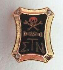 USA FRATERNITY PIN SIGMA TAU NU. MADE IN GOLD.1388