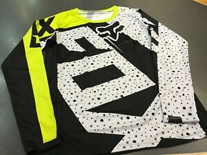 Mens FOX Jersey Long Sleeve Mountain Bike MTB Trail Bicycle Racing Top Small