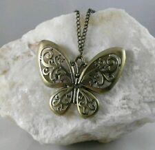 Colgante Mariposa Color Cobre Dorado Oro Viejo