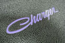 1968-78 Dodge Charger 4 Piece Floor Mats Set PURPLE Embroidery