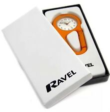 Ravel Orange Nurses Doctors Carabiner Clip On Spung Fob Watch boxed R1105.08