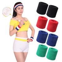 EB_ KF_ 2Pcs Wristbands Absorb Sweat Towel Wrist Protector for Badminton Tennis