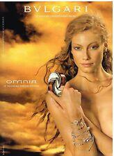 Publicité Advertising 2003 Parfum Omnia BULGARI