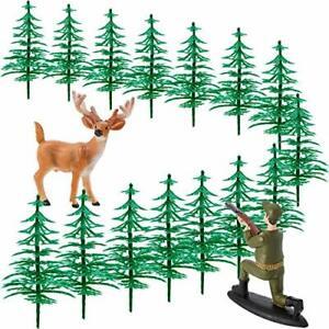 17 Pieces Deer Figurines Cake Topper Tree Decorations 17 Piece Set