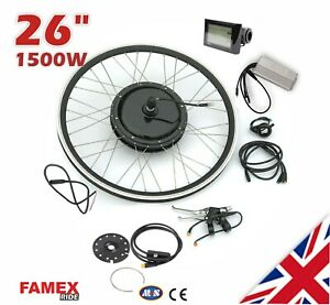"""Professional Waterproof 1500W Electric Bicycle Conversion Kit 26"""" Rear Wheel 48V"""