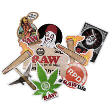 RAW Stickers - Authentic RAW Logo and Original Art (9 Pack) with Rolling Paper D