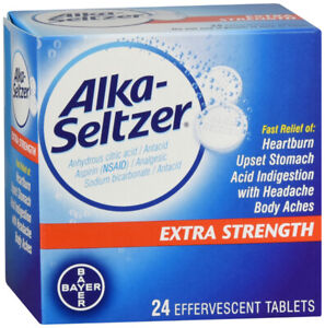 Alka-Seltzer Effervescent Extra Strength 24 Tablets