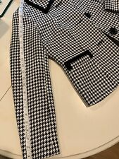 Nipon Boutique Womens Houndstooth Suit Blazer Skirt Set Size 4