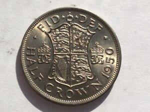 George VI  1950 Half Crown  Uncirculated & lustred B/UNC