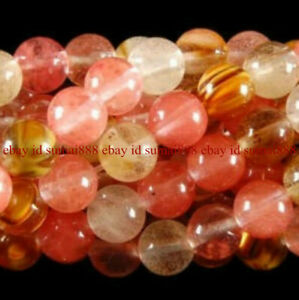 "6/8/10mm Multi-Color Watermelon Tourmaline Gemstone Round Loose Beads 15"" AA"