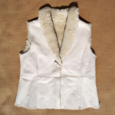 BHS Cream White Gilet Body warmer lining faux fur Size: 18/46 / Vest