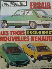 L'AUTO JOURNAL 1976 4 R5 GTL AUSTIN PRINCESS 2200 HLS R15 R17 PEUG 104 ZS RALLYE
