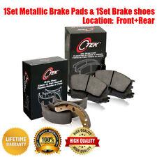 Front & Rear Metallic Brake Pads & Brake shoes 2SET For Ford Escort 1994-1996