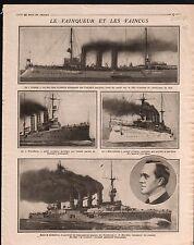 WWI battle cruiser Croiseur Leipzig Nurnberg Sharnhorst/Uhlans 1914 ILLUSTRATION