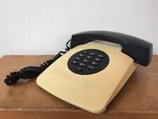Vintage La Phone LP-2800 Black Beige Landline Push Button Tabletop Corded Phone