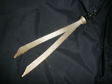 "GOLD METALIC LEATHER ZIPPER PULL TAB 1/4"" X 12"" FOR JACKETS, PURSES ETC. ETC."