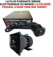 LA CELEBRE SIRENE FEDERAL DES COAST-GUARDS! 12V 200W 190DB S'ENTEND A + DE 2KM!