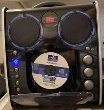 Plug & Play Karaoke Machine Portable Cd+G Karaoke Player Disco Lights w/ On/Off