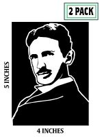 2 PACK NIKOLA TESLA Stickers Vinyl Decal Alternating Current OG Steampunk