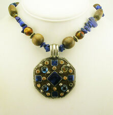 Joan Rivers Enameled and Crystal Bead Pendant Necklace ( w/J R romance card)