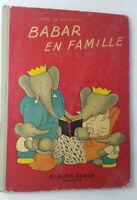 1939 BABER EN FAMILLE BY JEAN DE BRUNHOFF HACHETT  1st FRENCH EEDITION  KD