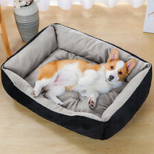 Warm Comfy Calming Dog/Cat Bed Round Super Soft Plush Pet Beds Hardwearing UK