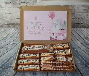 Personalised Galaxy Chocolate Sweet Large Hamper Gift Box All Occasions (K69)