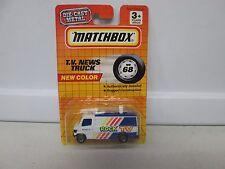 Matchbox New Color T.V. News Truck MB68
