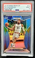 2019 Prizm BLUE REFRACTOR Wizard RUI HACHIMURA Rookie Basketball Card PSA 9 MINT