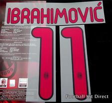 AC MILAN IBRAHIMOVIC 11 2011/12 football shirt NOME/NUMERO SET AWAY SERIE A