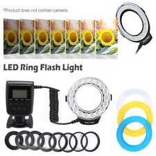 Portable LED Macro Flash Light Lamp w/ 8-Ring for Canon Nikon Sigma Digital Cam