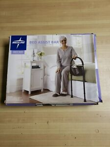 New In Box Medline Bed Assist Bar with Storage Pocket Height Adjustable Bed Rail