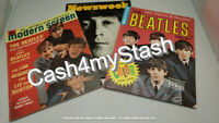 THE BEATLES: Lot of 3 Vtg Magazines: Modern Screen, The Beatles Talk, Newsweek