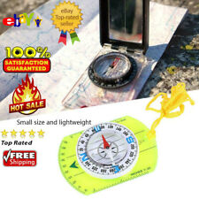 Magnetic Compass with Portable Map Multi-function Outdoor Travel Compass Acrylic