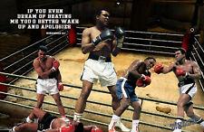 Lithograph print of Muhammad Ali 17 x 11