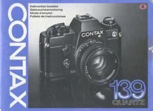 Contax 139 Quartz Instruction Manual multi-language Original