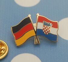 Freundschaftspin Deutschland Kroatien Pin Badge Button Anstecker Anstecknadel