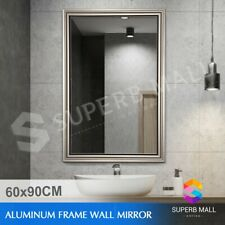 Decorative Wall Mount Makeup Mirror Bathroom Large Aluminum Frame Mirror 90x60CM