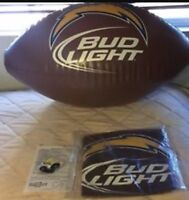 "Los Angeles Chargers Bud Light 30"" Long Inflatable Football Display"