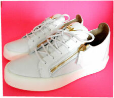 Giuzeppe Zanotti Low Top Gold Double Zip Loafer White Sneakers Shoes 41