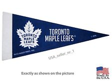 """New NHL Toronto Maple Leafs Mini Pennant  9""""x4"""" Made in USA Banner Flag"""