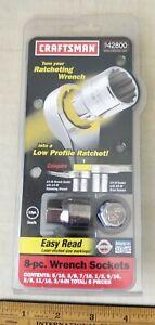 New Old Stock -- 8-Piece Craftsman USA SAE Wrench Socket Set 42800