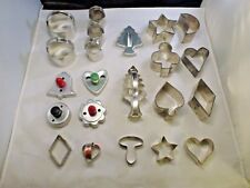 LOT OF 22 VINTAGE COOKIE CUTTERS METAL/TIN  VARIOUS FIGURES