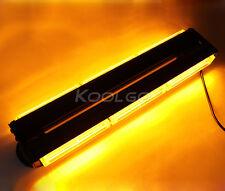 108W COB Led Amber Car Emergency Warning Strobe Light Bar Flashing Lamp 12V/24V