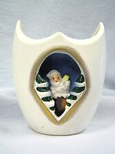 Vtg Holt Howard Santa Vase Diorama 3-D Inset Japan Christmas Unmarked Porcelain