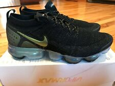 Nike Air Vapormax Flyknit 2 Black Multi-color Gold 942842 015 Men's Size 10