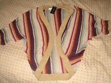 bnwt top shop knitted cardigan bolero top size 14 striped multicolour