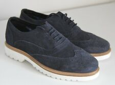 New Ben Sherman Navy Blue Suede Rubber Sole Brogues Formal Leather Smart Shoes 7